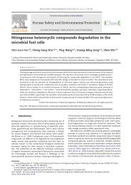 Nitrogenous heterocyclic compounds degradation in the microbial ...