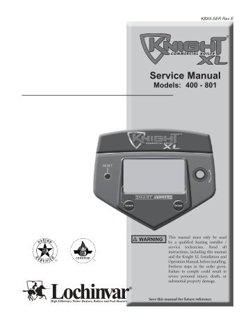 lochinvar copper fin ii boiler manual