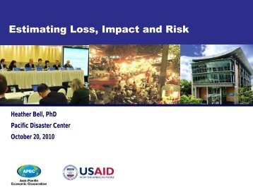 Estimating Loss, Impact and Risk - VinAWARE - Pacific Disaster ...