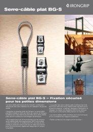 Serre-câble plat BG-S - IronGrip