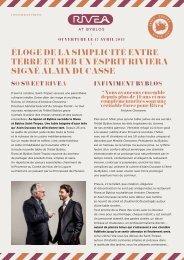 ÉLOGE DE La SIMPLICItÉ ENtRE tERRE Et MER ... - Alain Ducasse