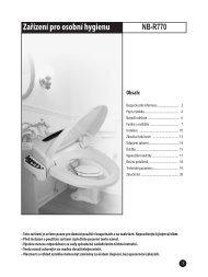 Návod k obsluze - Koupelny SEN