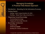 Managing Knowledge: A Practical Web-Based Approach