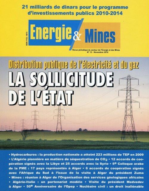 Revue n° 12 - Ministère de l'énergie et des mines