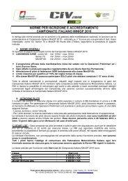 Norme per iscrizione e accreditamento MiniGp 2010 - CIV