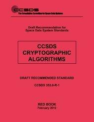 CCSDS 352.0-R-1, CCSDS Cryptographic Algorithms (Proposed ...