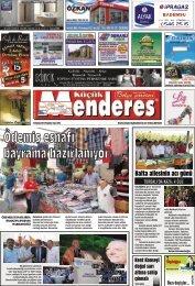 24 Temmuz Tarihli Küçükmenderes gazetesi