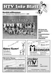 Schuttern Herzlich willkommen - HTV Meissenheim