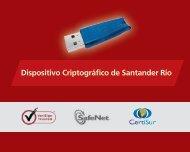 Dispositivo Criptográfico de Santander Río - Banco Santander Río