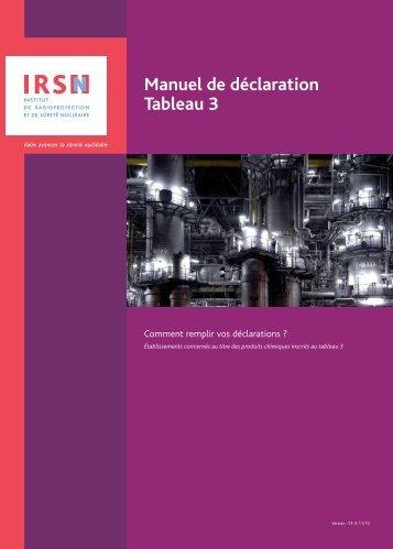 Manuel de déclaration - T3 - Non prolifération - IRSN