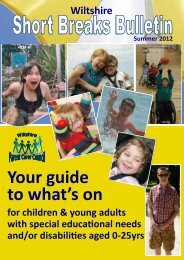 Short Breaks Bulletin - Carer Support Wiltshire