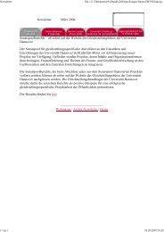 Newsletter März 2006 Senatspoolberichte – ab sofort auf der ...