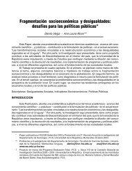 Fragmentación socioeconómica y desigualdades - Facultad de ...