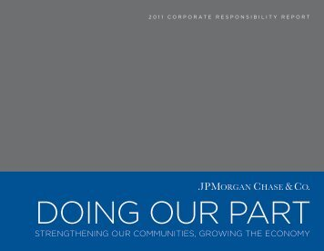 JPMorgan Chase & Co. 2011 Corporate Responsibility Report