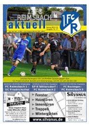 Tel (0 68 61) 7 56 83 Fax (0 68 61) - 1. FC Reimsbach