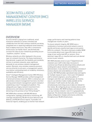 Integrating Wireless Management - Starnet Data Design, Inc
