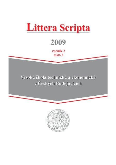 Untitled - Vysoká škola technická a ekonomická v Českých ...