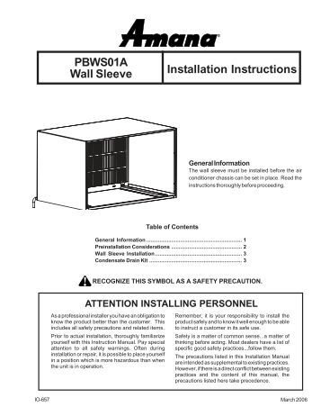 ptac wire harness kit pwhk01c installation instructions amana ptac pbws01a wall sleeve installation instructions amana ptac