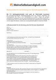 Musterprotokoll für die Gründung einer UG (haftungsbeschränkt)