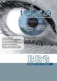 BBGidea April 2009 - BBG GmbH & Co. KG