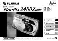 FinePix 2400 Zoom Manual - Fujifilm Canada