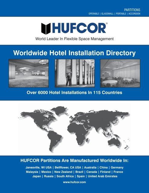 Hufcor Hotel Installation Directory Hufcor Deutschland Gmbh