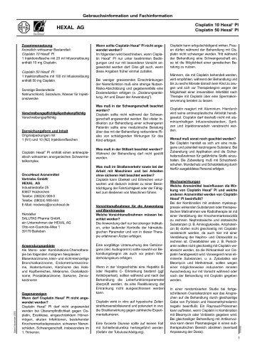 HEXAL AG - Bronchialkarzinom Aktuell