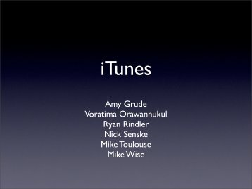 iTunes - Amy L. Grude