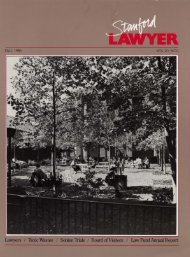 Fall 1985 – Issue 34 - Stanford Lawyer - Stanford University
