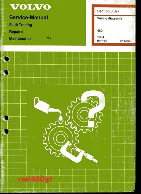 Wiring Diagram -/1991 - VOLVO 4 LIFE . ORG | Volvo 480 Wiring Diagram |  | Yumpu