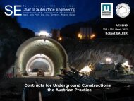 Contracts for Underground Constructions – the Austrian Practice