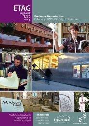 Business Opportunities Guide - Edinburgh UNESCO City of Literature