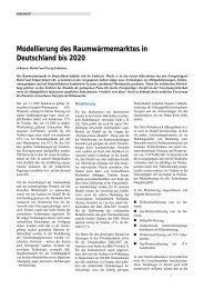 Modellierung des Raumwärmemarktes in Deutschland bis 2020