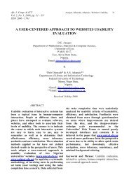 a user-centered approach to websites usability evaluation