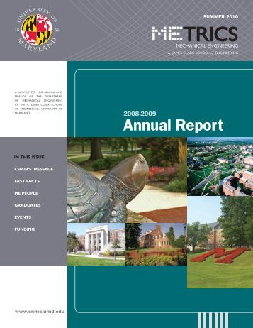 Annual Report - Department of Mechanical Engineering - University ...
