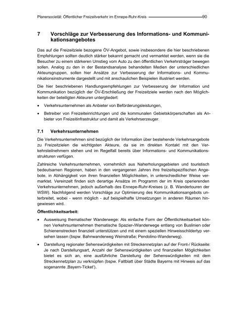 7 Vorschläge zur Verbesserung des Informations - Ennepe-Ruhr ...