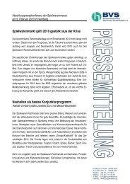 """Spielwaren-Sortiment bleibt """"nach oben offen"""" - BVT"""