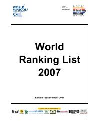 World Ranking List 2007