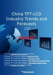 China TFT-LCD Industry Trends And Forecasts - Displaybank