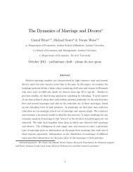The Dynamics of Marriage and Divorce