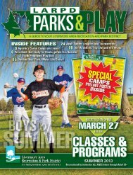 Download a pdf - Livermore Area Recreation and Park District