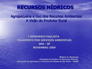 Representante do setor agrícola - SIGAM