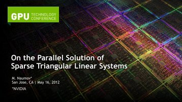 On the Parallel Solution of Sparse Triangular Linear Systems