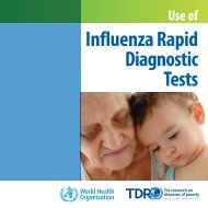 Use of Influenza RDTs - libdoc.who.int - World Health Organization