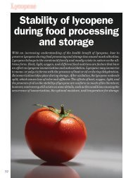 Stability of lycopene during food processing and storage