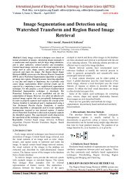 Image Segmentation and Detection using Watershed Transform and ...