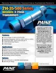 214-35-500 - Paine Electronics, LLC.