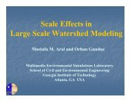 Scale Effects in Large Scale Watershed Modeling - MESL - Georgia ...