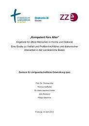 """""""Kompetent fürs Alter"""" - Zentrum für zivilgesellschaftliche Entwicklung"""