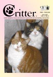 MAY 2011 VOL. 4 NO. 9 FREE – TAKE ONE - Critter Magazine